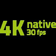 4K przy 30 klatkach na sekundę