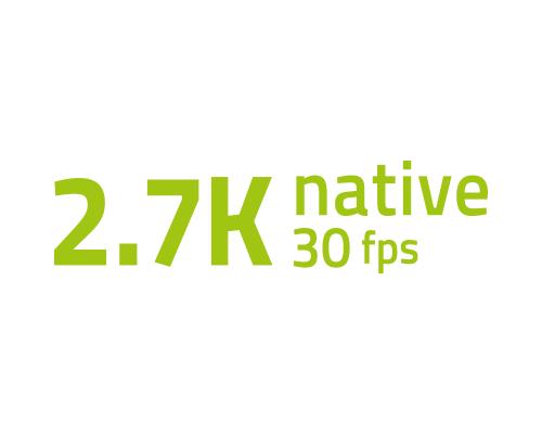 Natywne wideo 2,7K